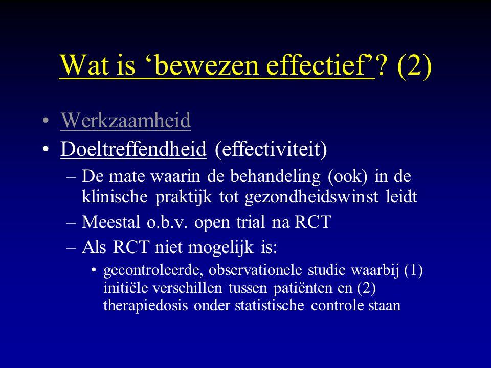 Wat is 'bewezen effectief' (2)