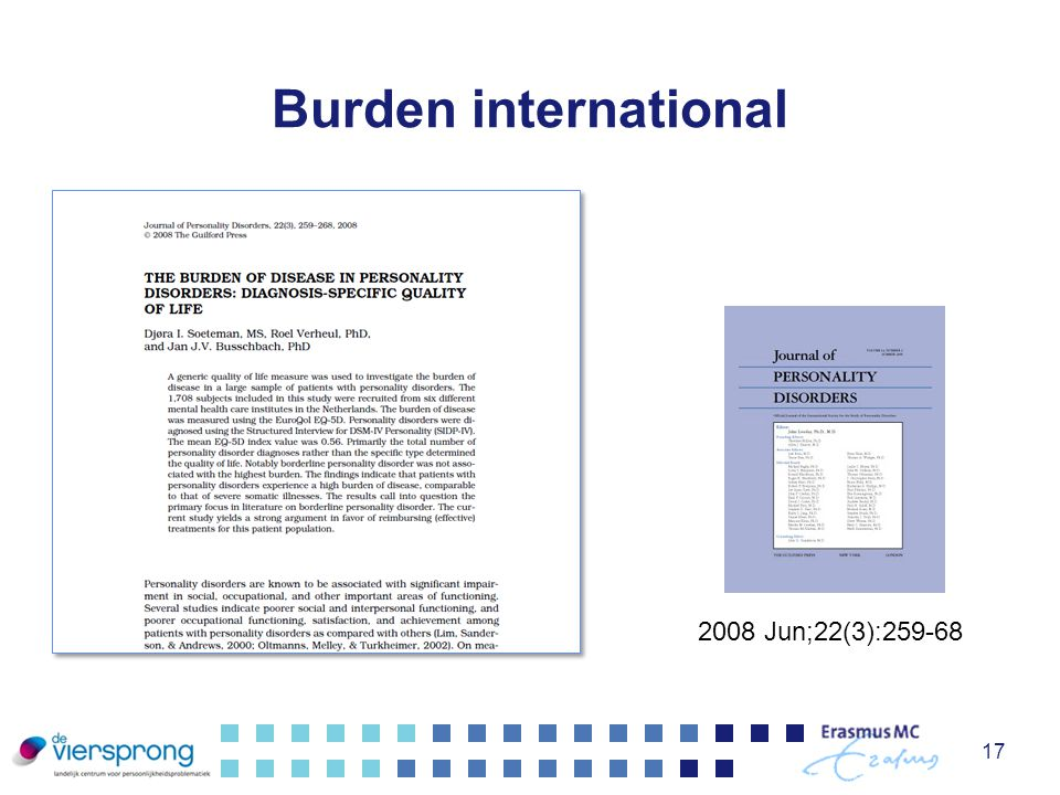 Burden international 2008 Jun;22(3):259-68