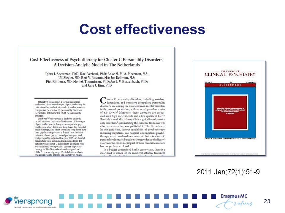 Cost effectiveness 2011 Jan;72(1):51-9