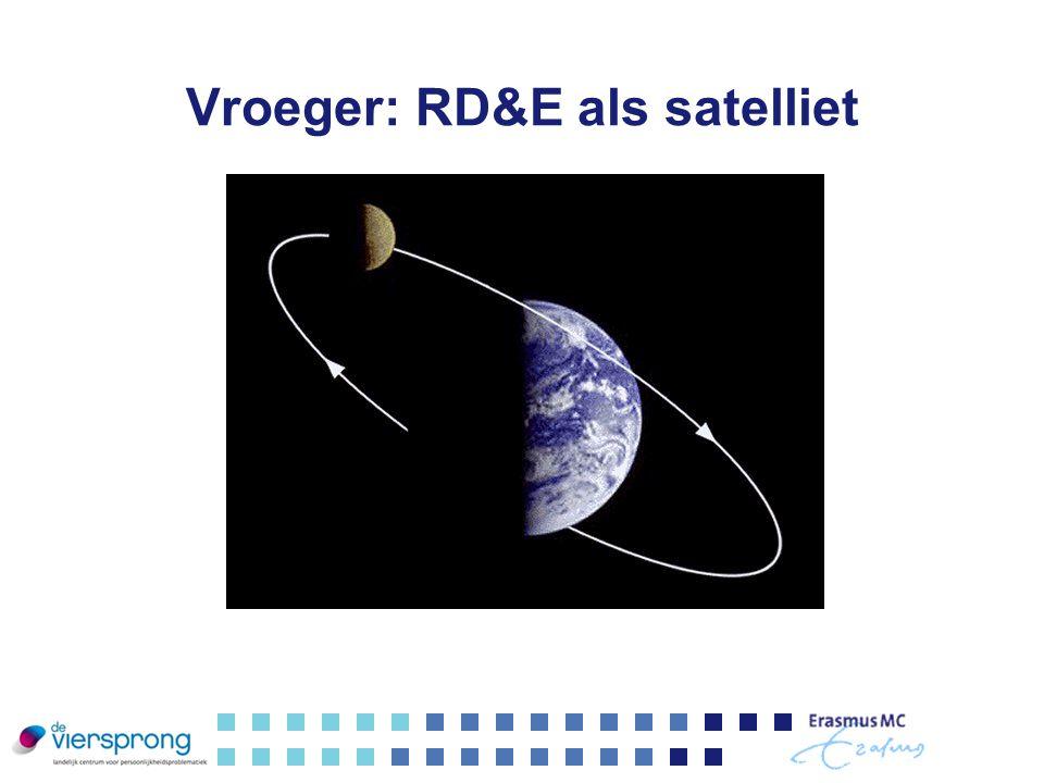 Vroeger: RD&E als satelliet