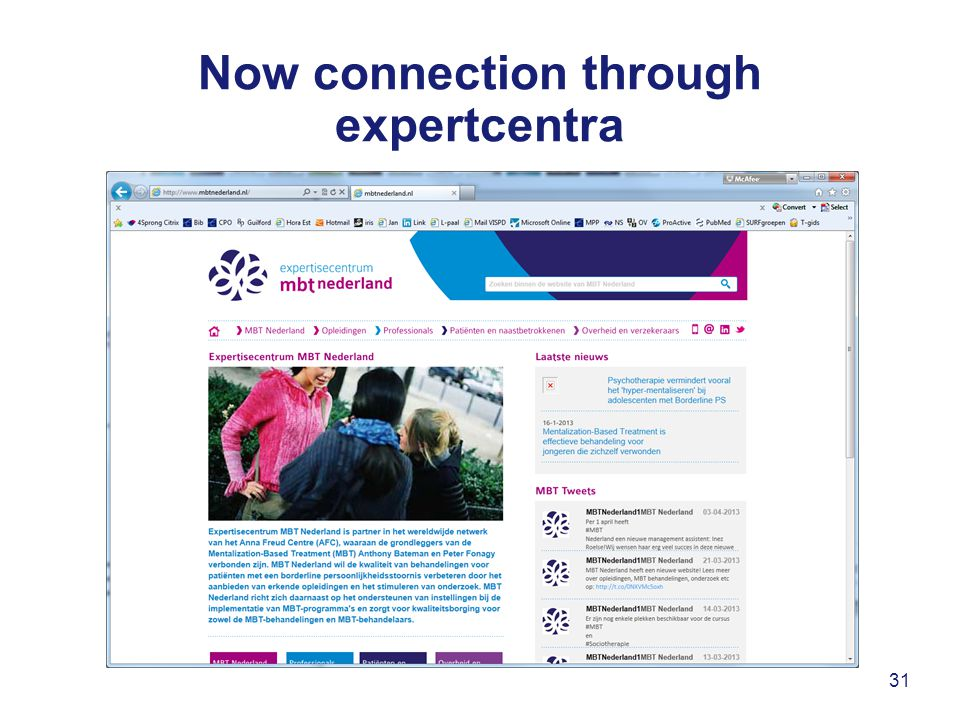 Now connection through expertcentra