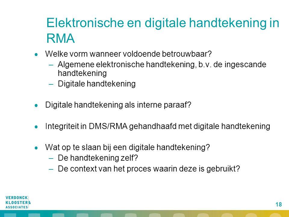 Elektronische en digitale handtekening in RMA