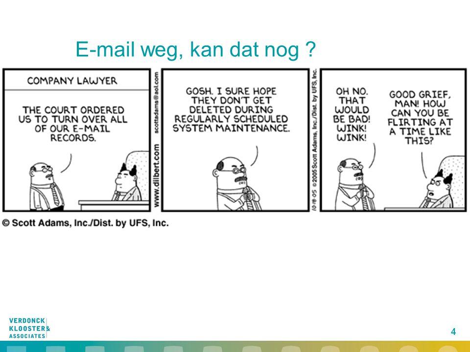 E-mail weg, kan dat nog 4