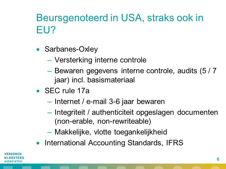 Beursgenoteerd in USA, straks ook in EU