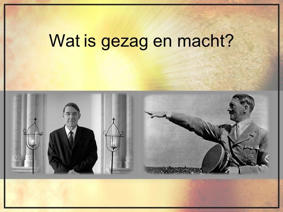 Wat is gezag en macht