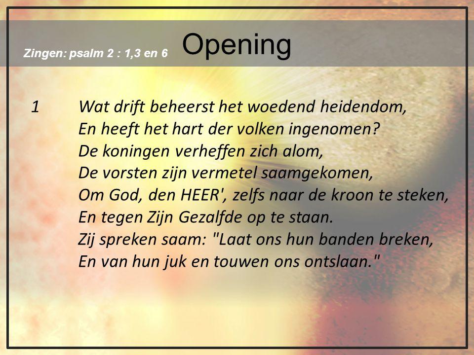 Opening 1 Wat drift beheerst het woedend heidendom,