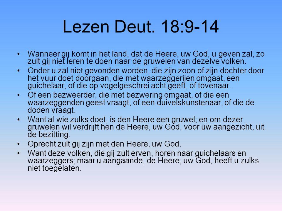 Lezen Deut. 18:9-14