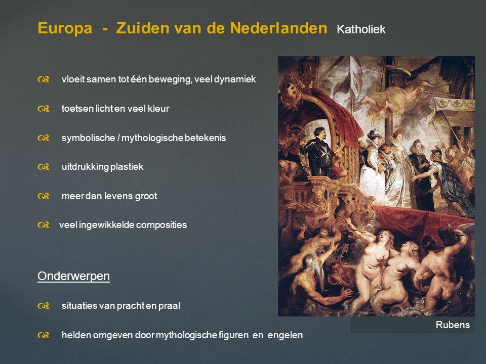Europa - Zuiden van de Nederlanden Katholiek
