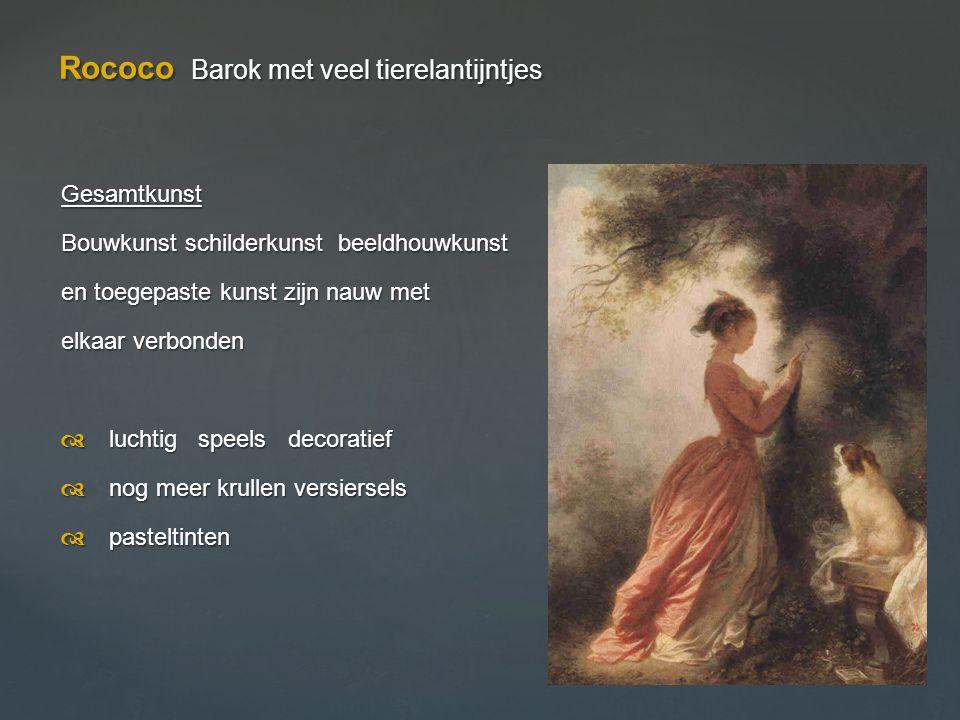 Rococo Barok met veel tierelantijntjes
