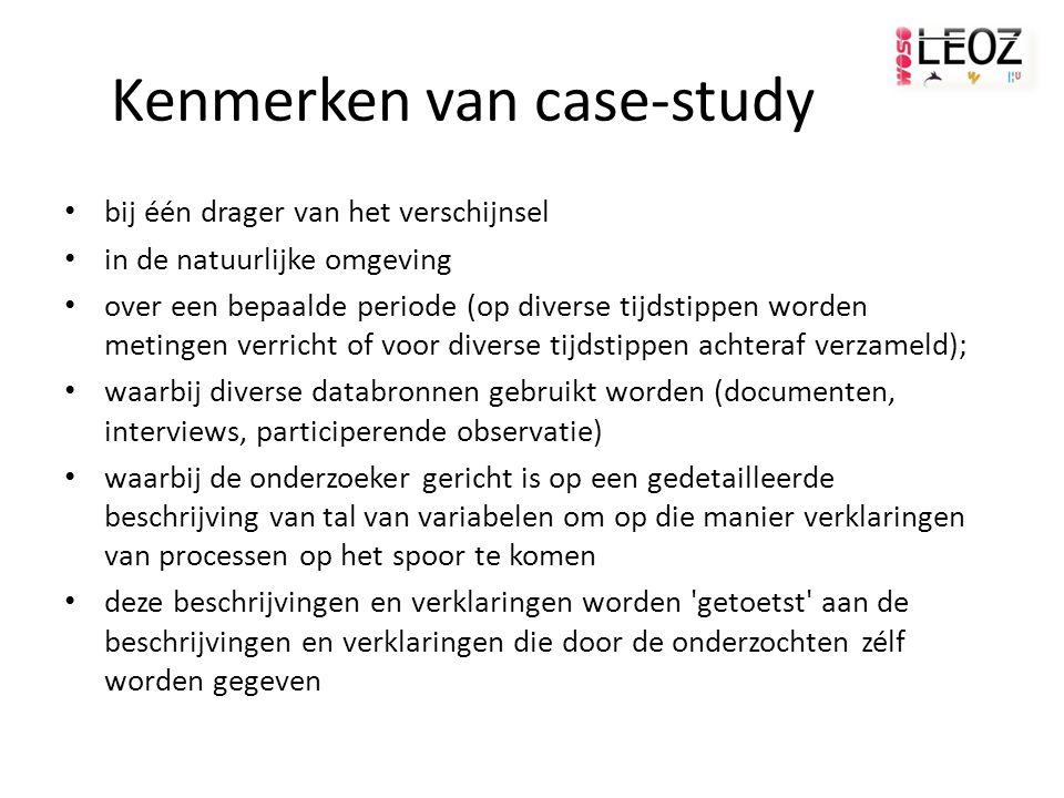 Kenmerken van case-study