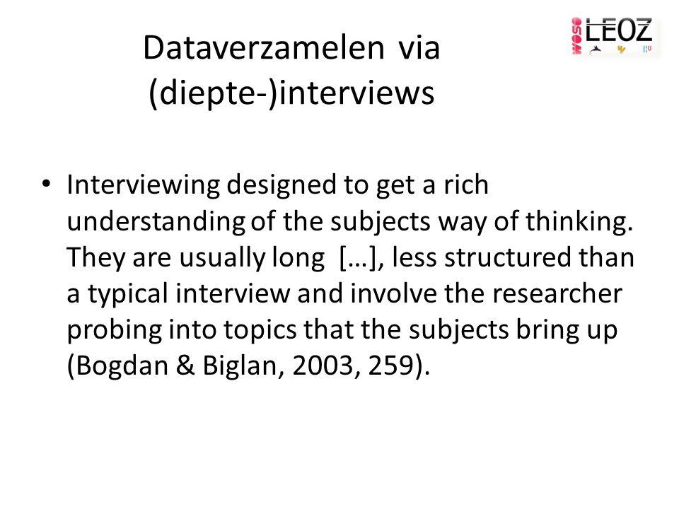 Dataverzamelen via (diepte-)interviews