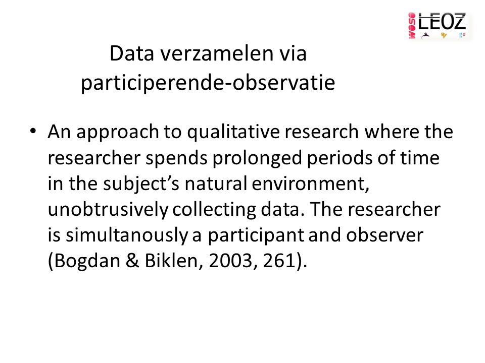 Data verzamelen via participerende-observatie