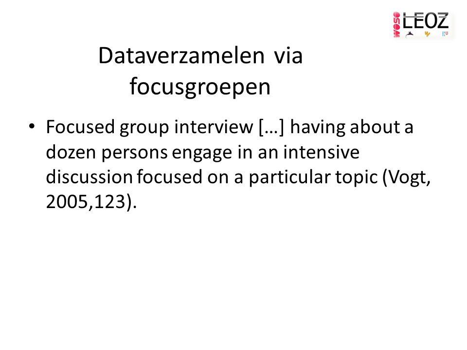 Dataverzamelen via focusgroepen
