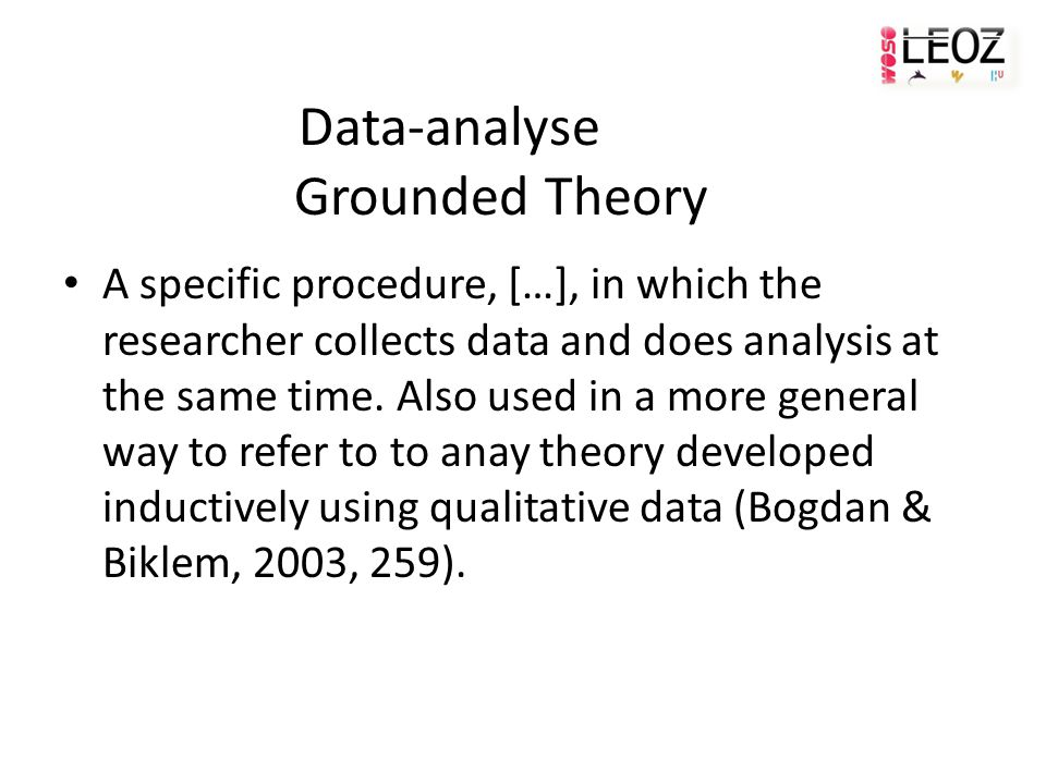 Data-analyse Grounded Theory