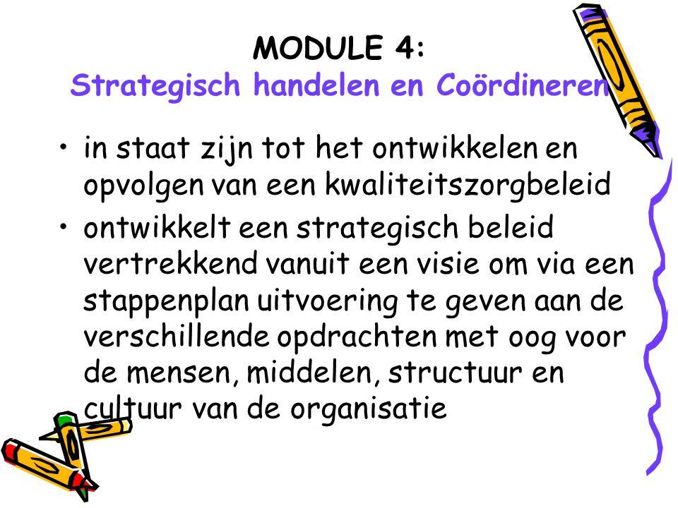 MODULE 4: Strategisch handelen en Coördineren