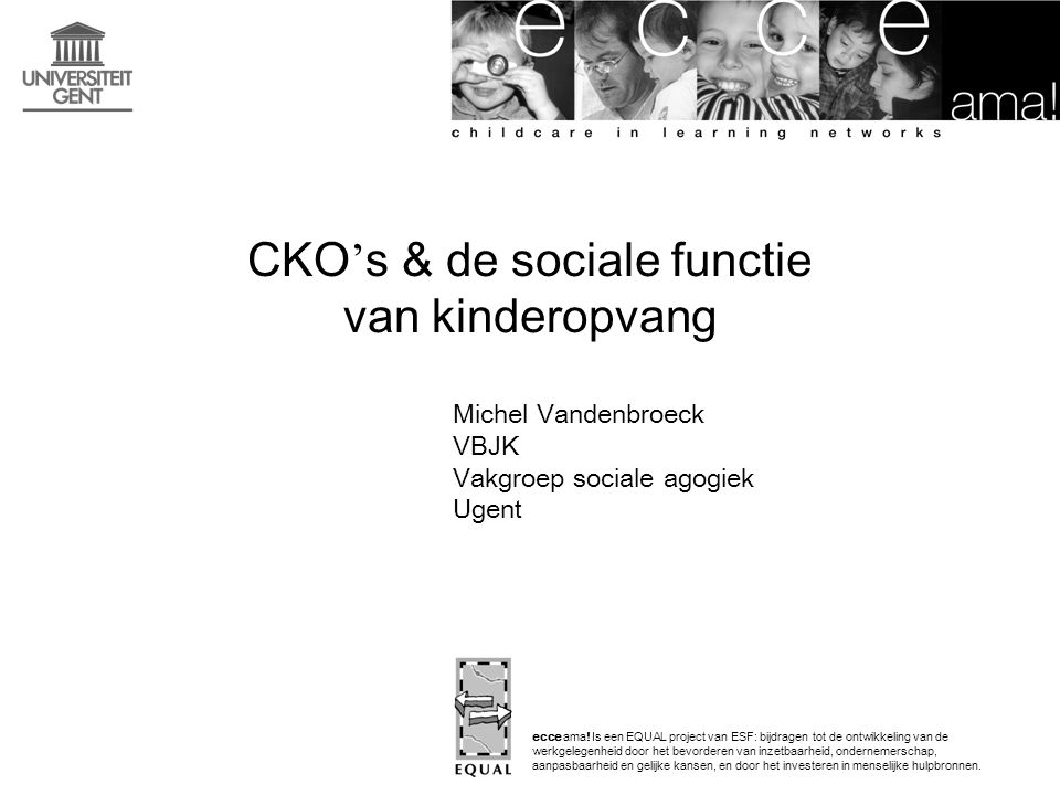 CKO's & de sociale functie van kinderopvang