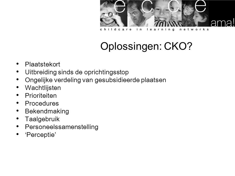Oplossingen: CKO Plaatstekort Uitbreiding sinds de oprichtingsstop
