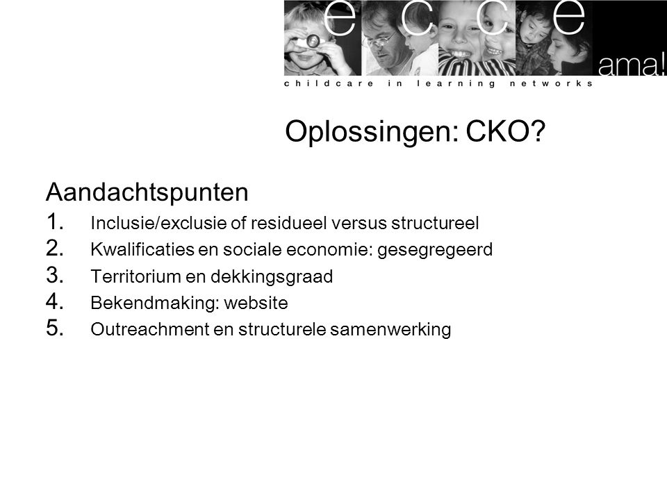 Oplossingen: CKO Aandachtspunten