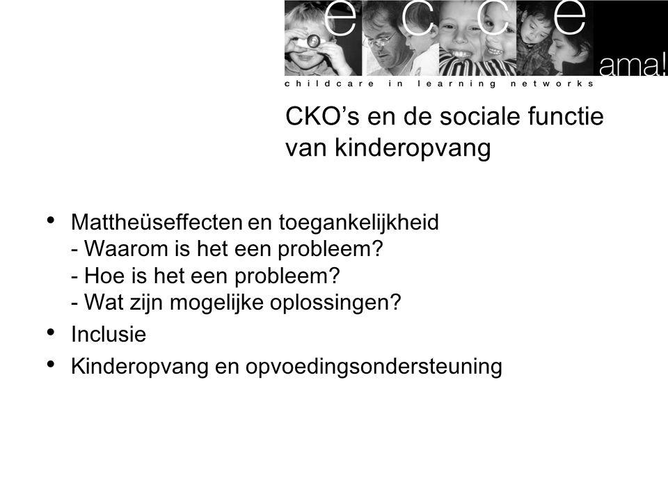 CKO's en de sociale functie van kinderopvang