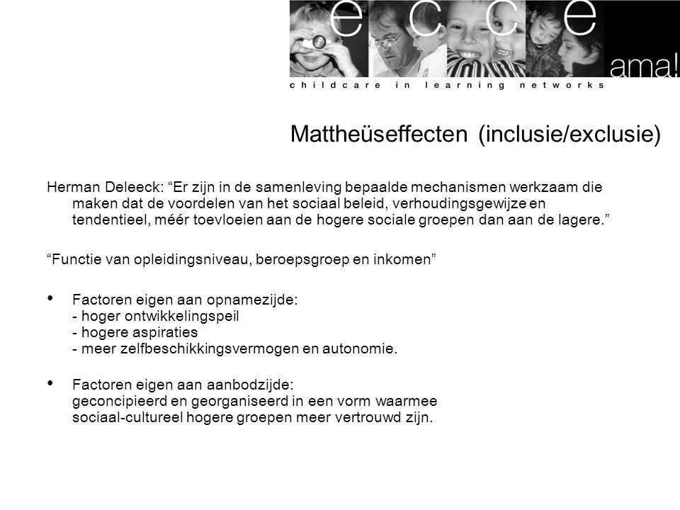 Mattheüseffecten (inclusie/exclusie)