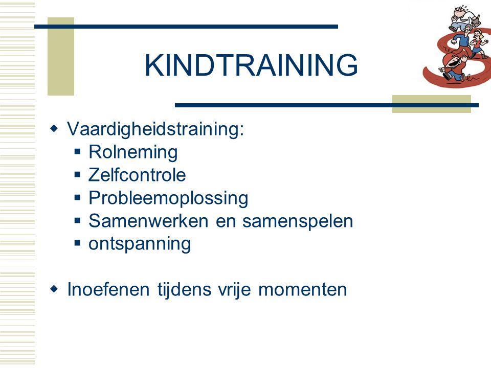 KINDTRAINING Vaardigheidstraining: Rolneming Zelfcontrole