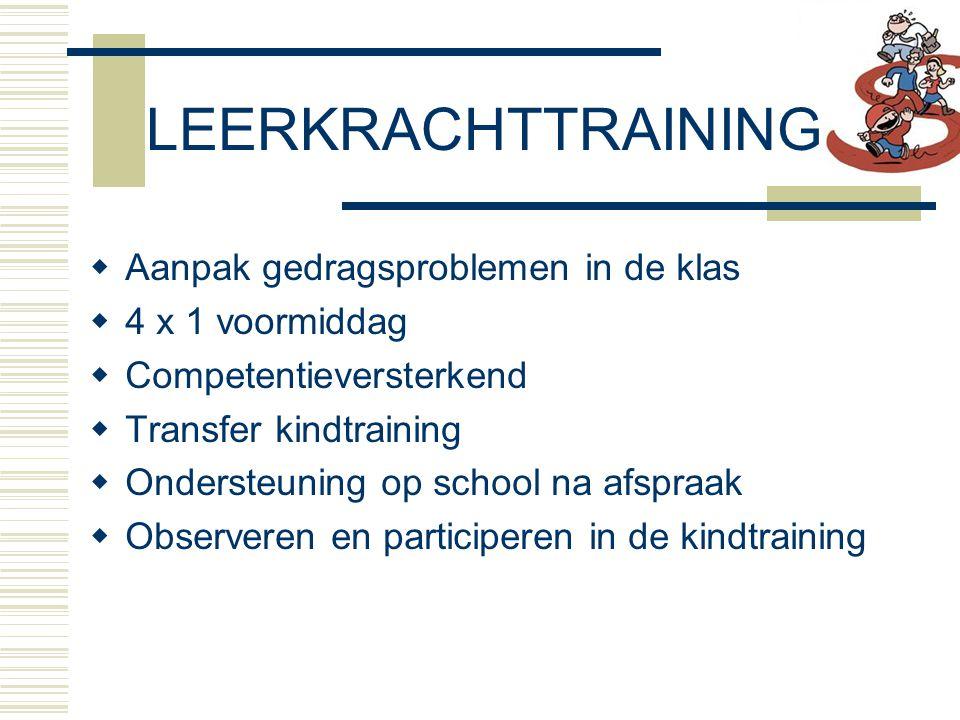 LEERKRACHTTRAINING Aanpak gedragsproblemen in de klas 4 x 1 voormiddag