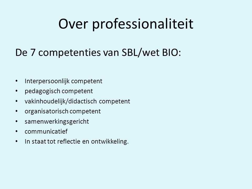 Over professionaliteit