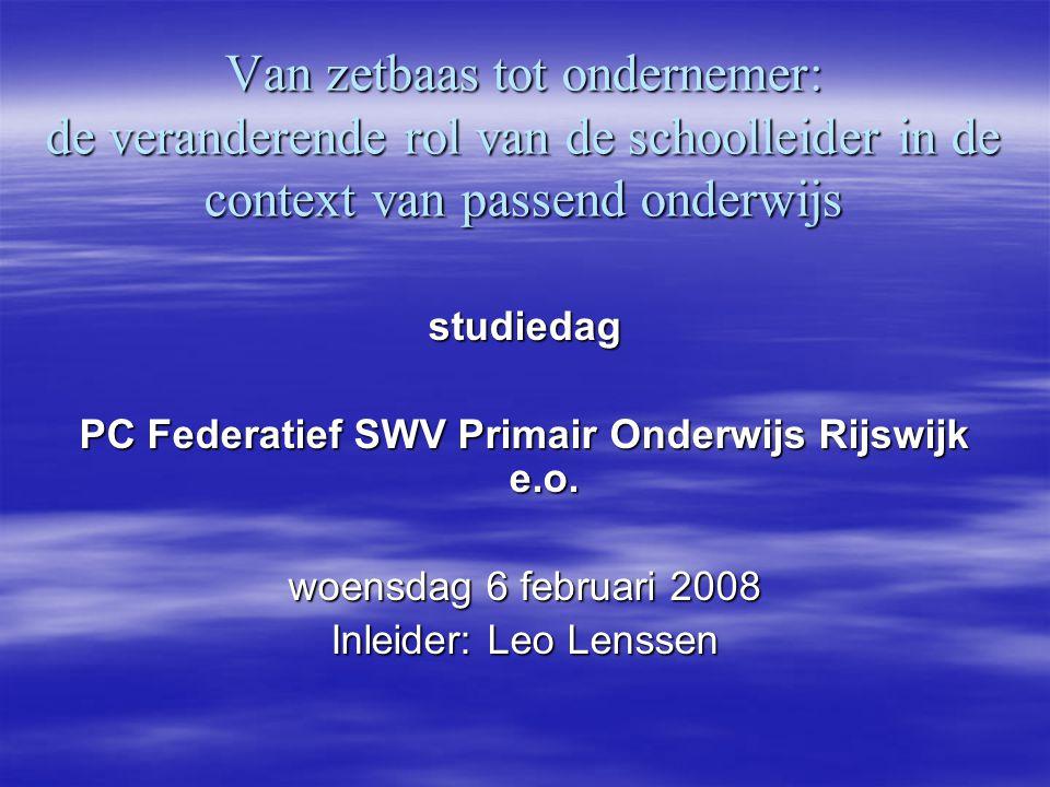 PC Federatief SWV Primair Onderwijs Rijswijk e.o.
