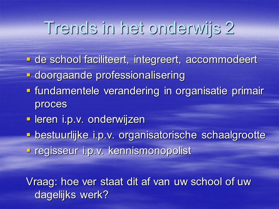 Trends in het onderwijs 2