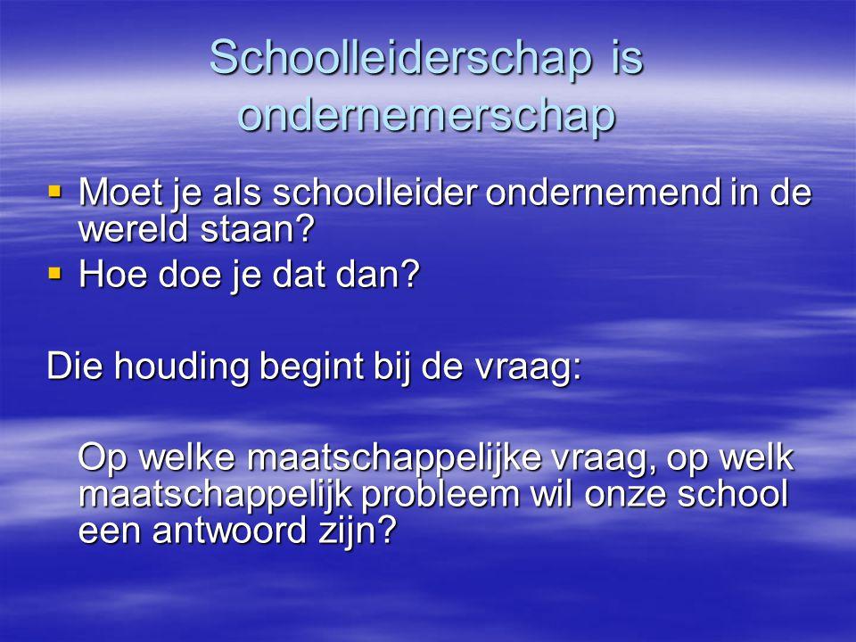 Schoolleiderschap is ondernemerschap