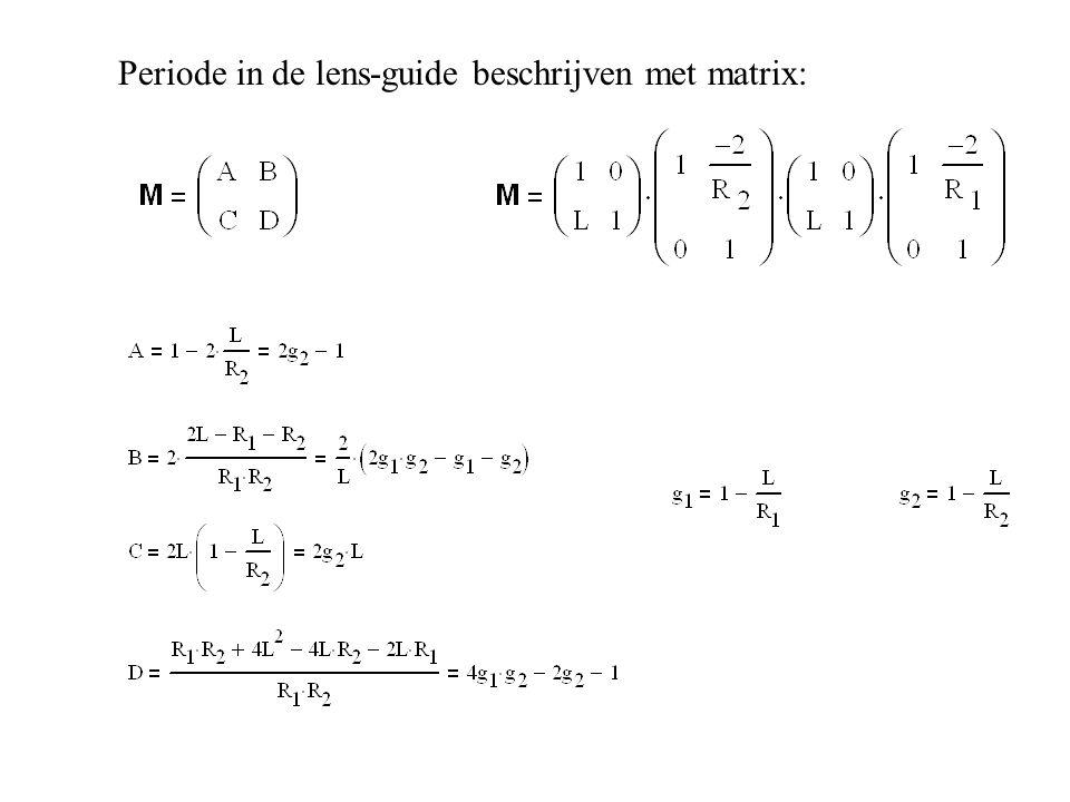 Periode in de lens-guide beschrijven met matrix: