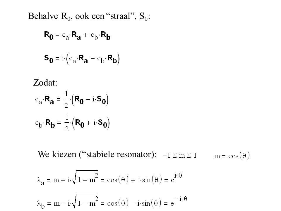 Behalve R0, ook een straal , S0: