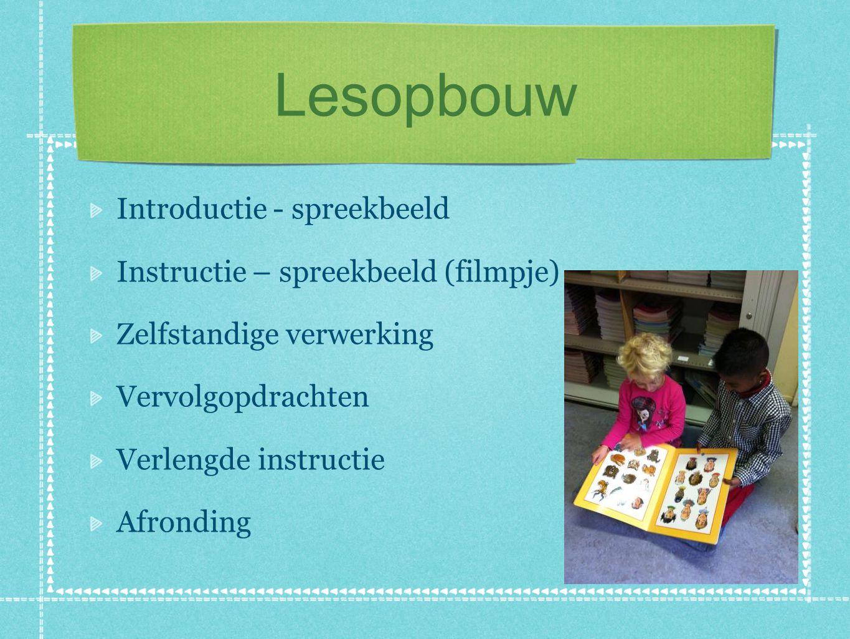 Lesopbouw Introductie - spreekbeeld Instructie – spreekbeeld (filmpje)