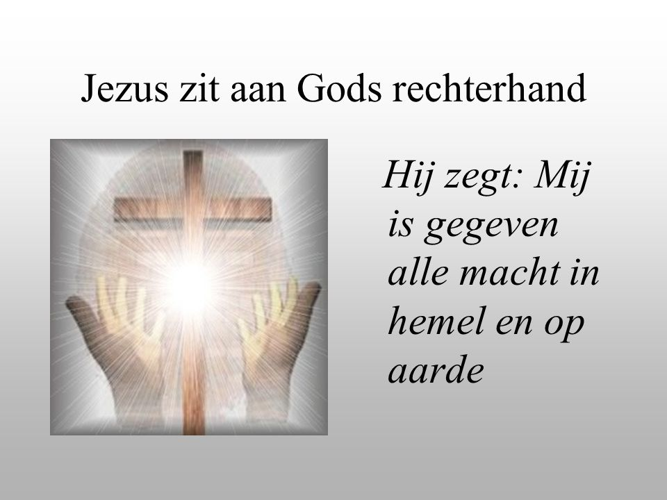 Jezus zit aan Gods rechterhand