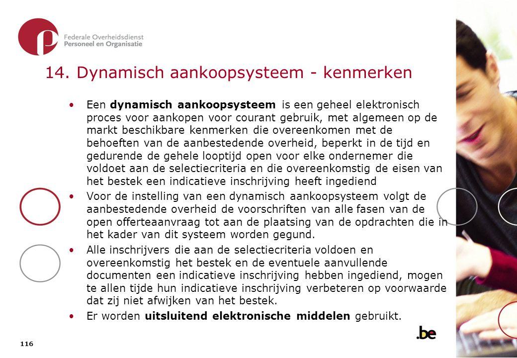14. Dynamisch aankoopsysteem – kenmerken (2)