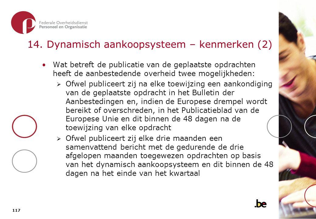 14.1. Het dynamisch aankoopsysteem - overzicht van de procedure