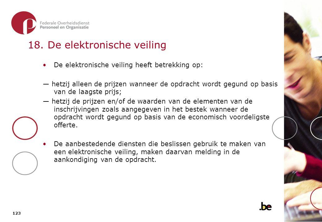 18. De elektronische veiling (2)