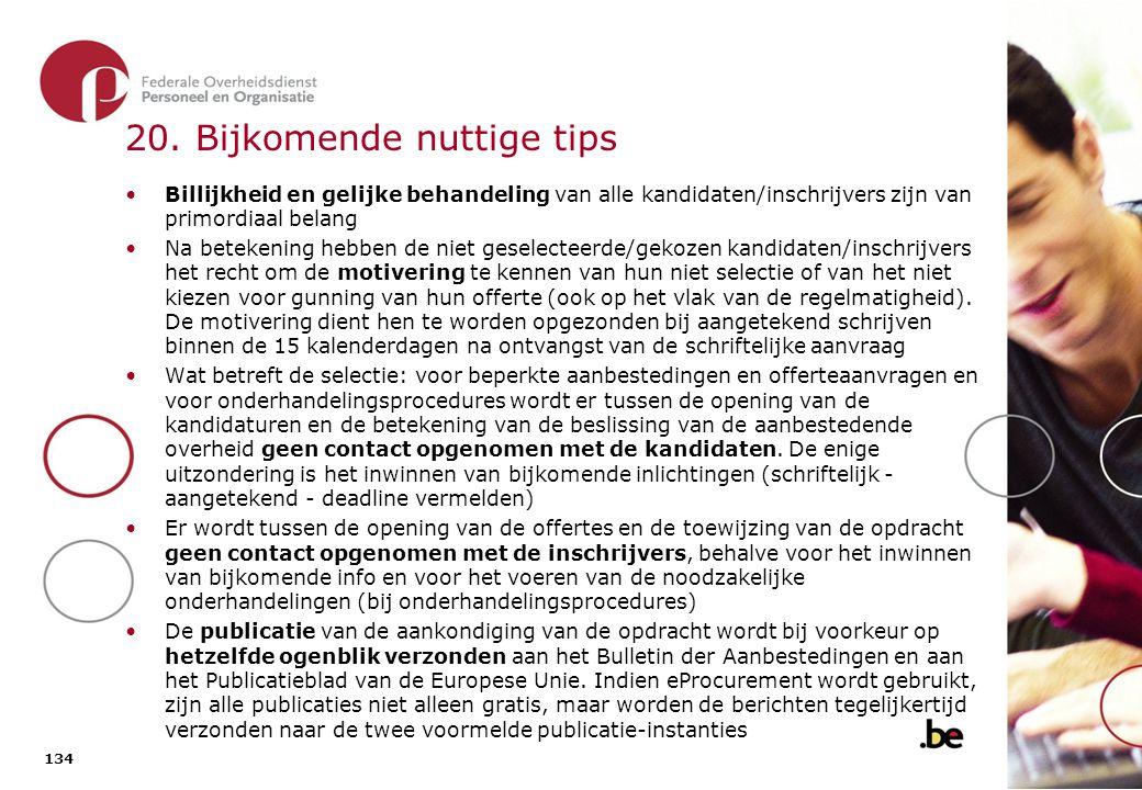 20. Bijkomende nuttige tips (2)