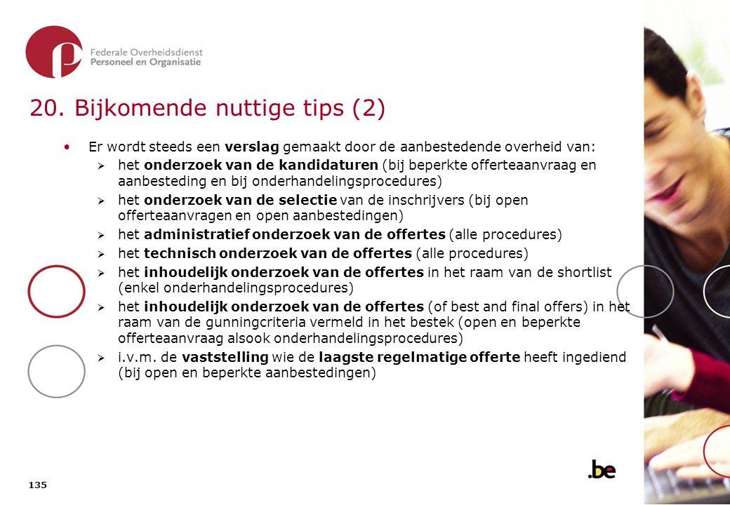 20. Bijkomende nuttige tips (3)