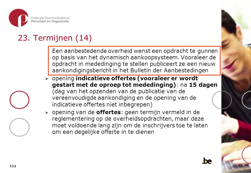 19. Naar de Ministerraad! Algemene offerteaanvragen en openbare aanbestedingen: