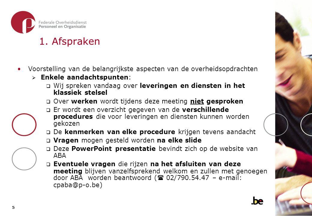 2. Soorten overheidsopdrachten