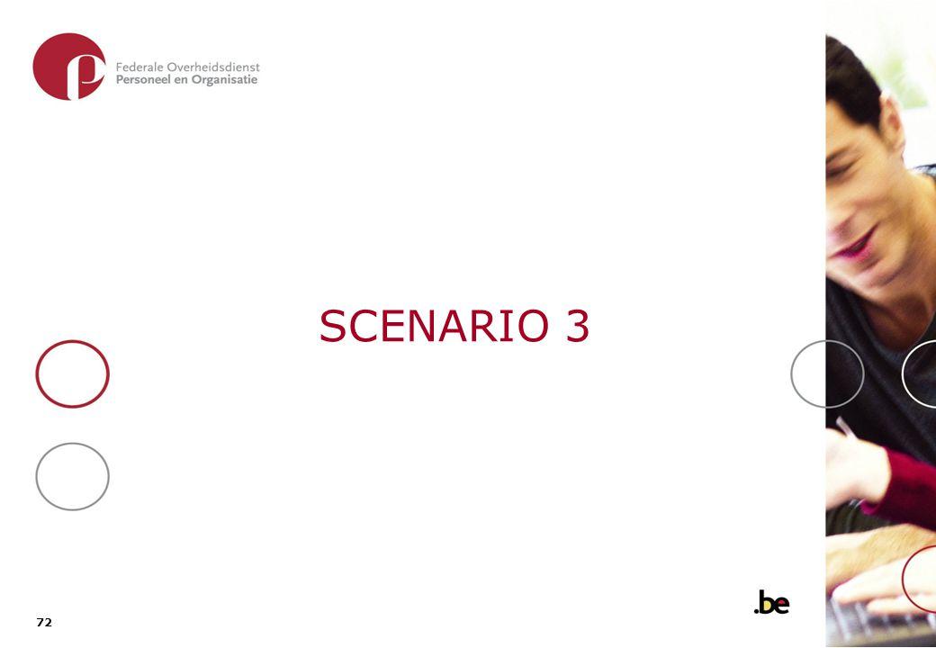 SCENARIO 3 Open offerteaanvraag Open aanbesteding
