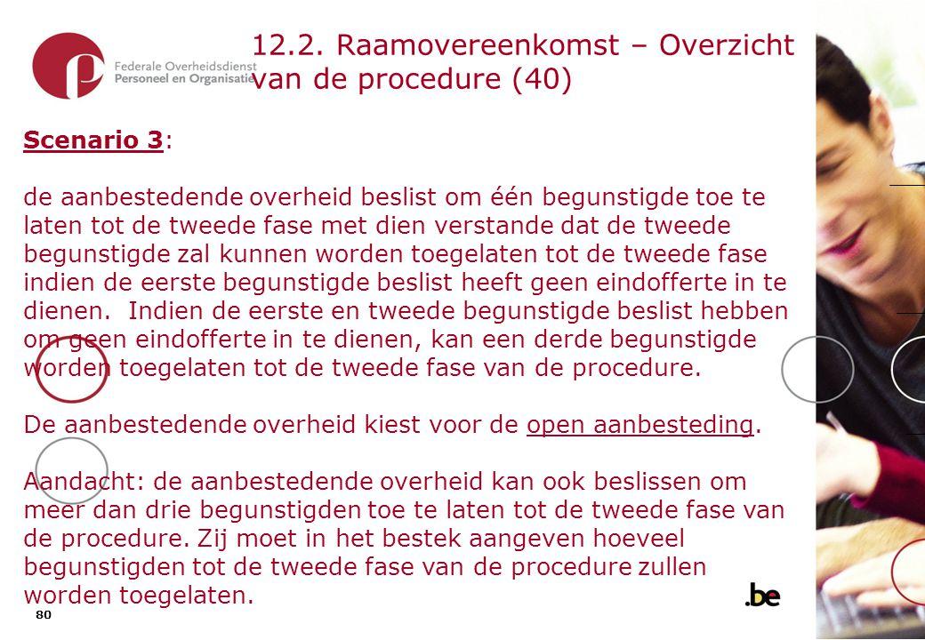 12.2. Raamovereenkomst – Overzicht van de procedure (41)