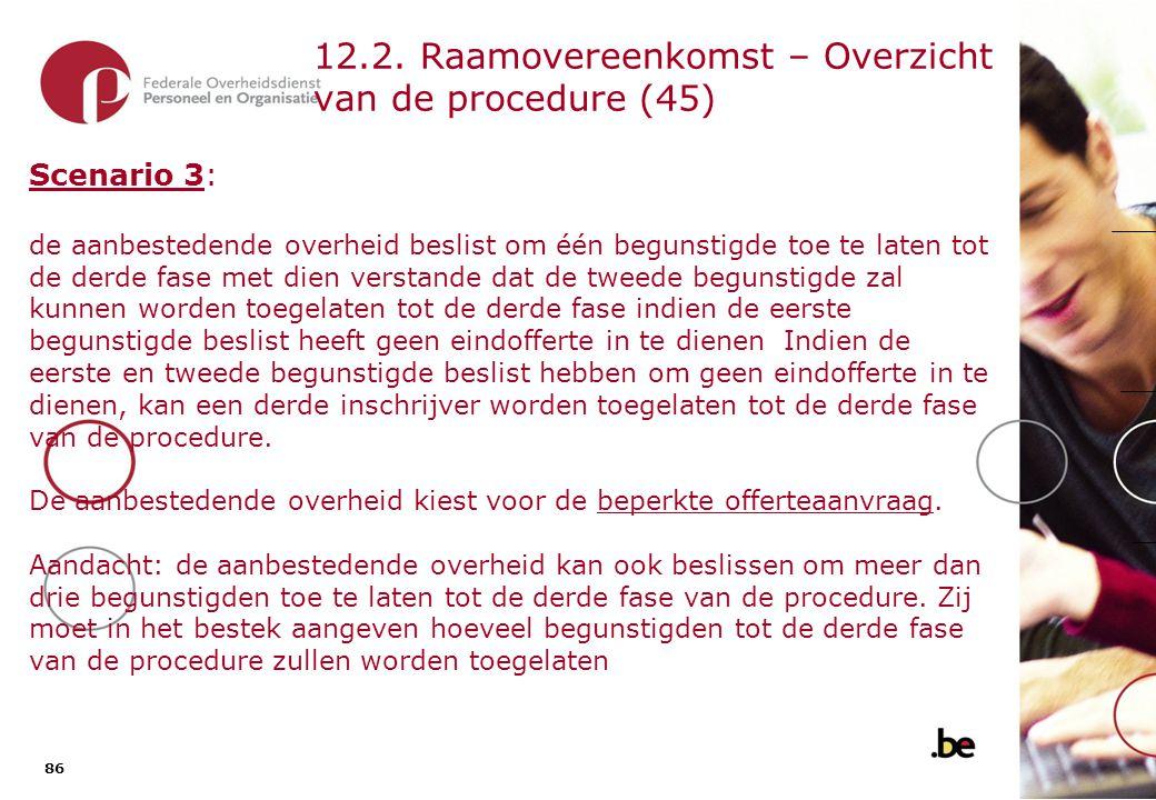 12.2. Raamovereenkomst – Overzicht van de procedure (46)