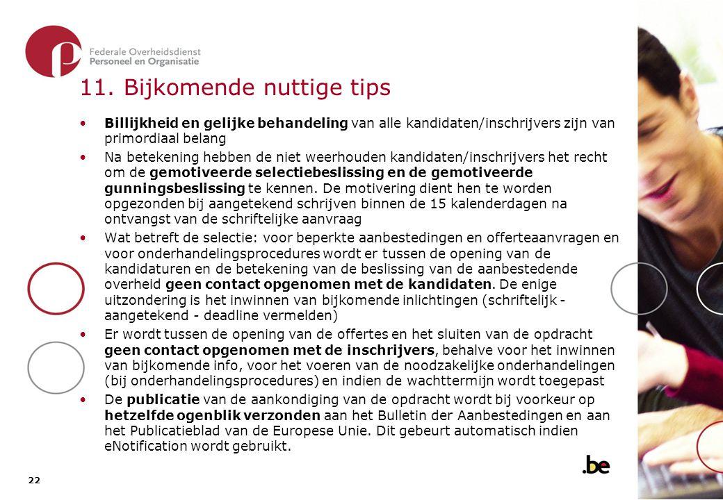 11. Bijkomende nuttige tips (2)