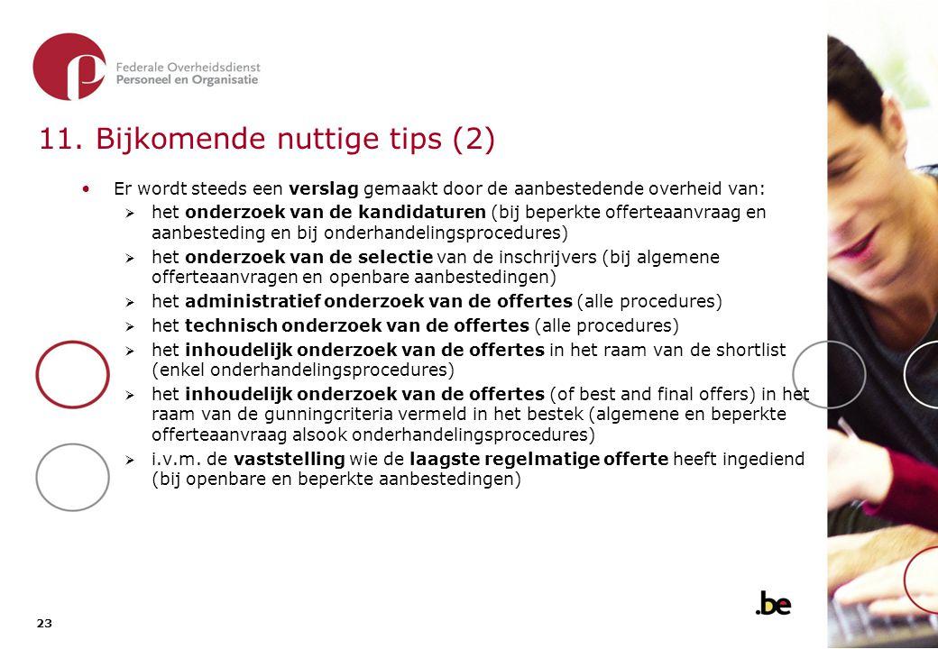 11. Bijkomende nuttige tips (3)