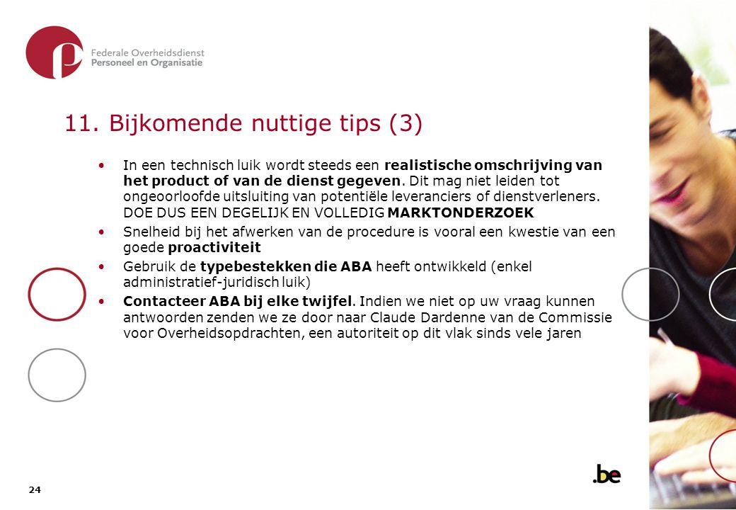 12. Bedragen van de opdrachten en mogelijke procedures - drempels