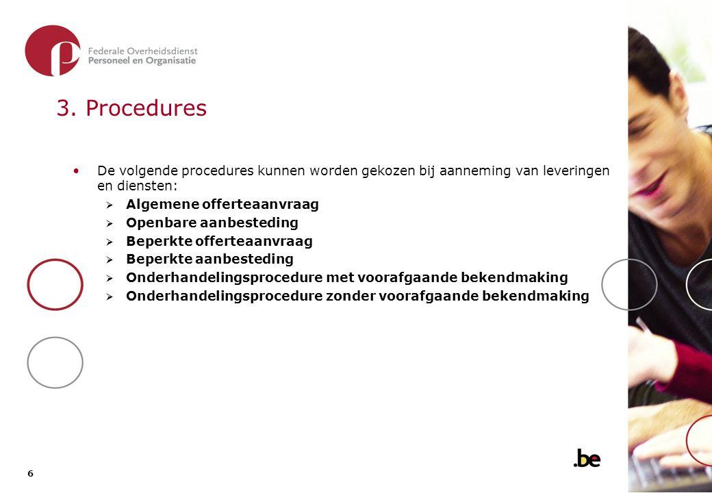 4. De geschikte procedure kiezen - principes