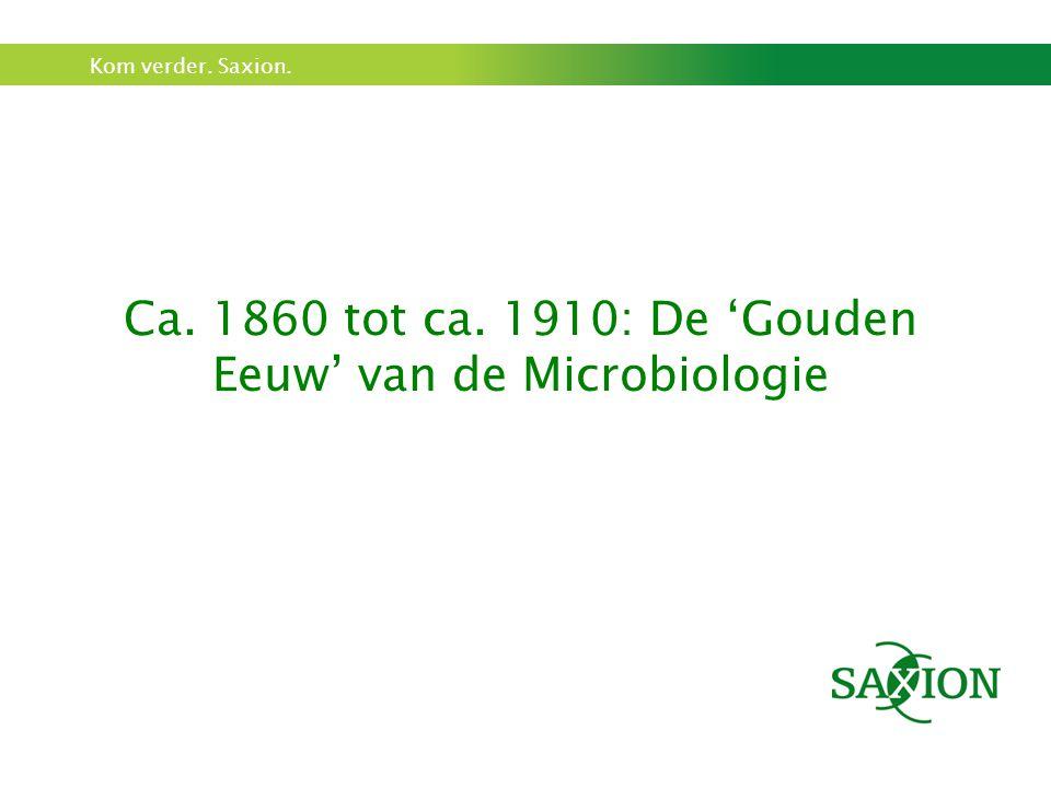 Ca. 1860 tot ca. 1910: De 'Gouden Eeuw' van de Microbiologie