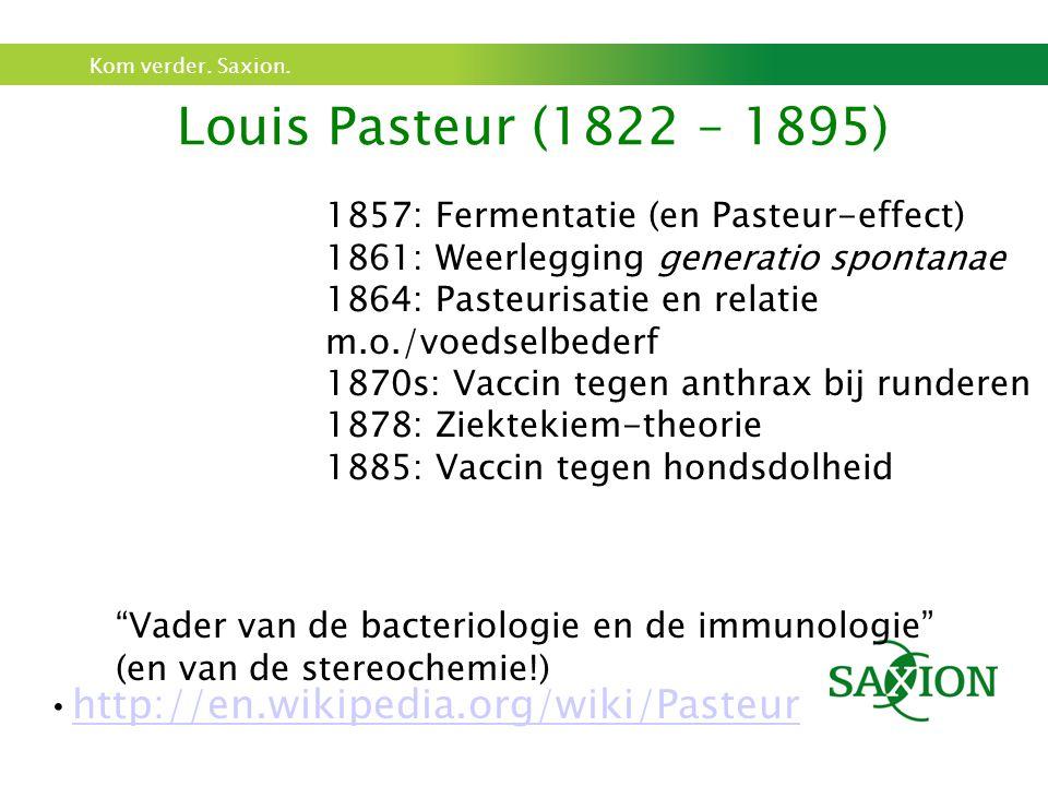 Louis Pasteur (1822 – 1895) http://en.wikipedia.org/wiki/Pasteur